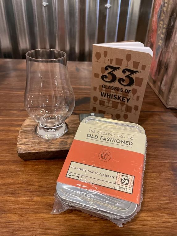 whiskey and cocktail book gift set for him from she shed, he shed in Ellicottville, NY