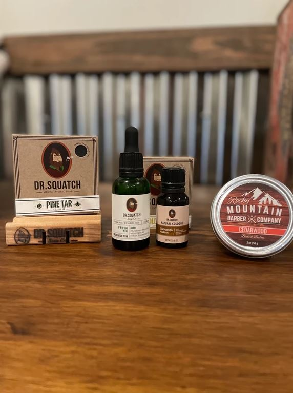 Dr Squatch soap and beard oil gift set for him Ellicottville, NY